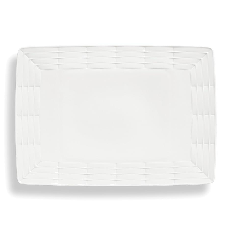 Lenox Entertain 365 Sculpture Large Platter, White