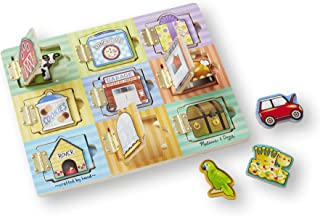 Melissa & Doug Magnetic Hide & Seek Board (Developmental Activity Toy, 9 Pieces), Great Gift for Girls and Boys - Best for 3, 4, and 5 Year Olds