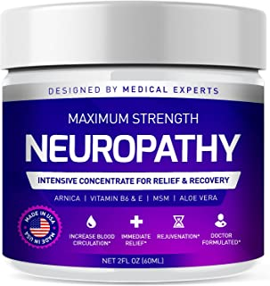 Neuropathy Nerve Therapy & Relief Cream - Maximum Strength Relief Cream for Foot, Hands, Legs, Toes Includes Arnica, Vitam...