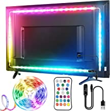 TV LED Strip, TOPYIYI 3M LED TV-achtergrondverlichting, USB LED TV Lights met Afstandsbediening, 5050 RGBW Multi-Gekleurde...