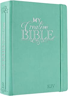Holy Bible: My Creative Bible KJV: Aqua Hardcover Bible for Creative Journaling
