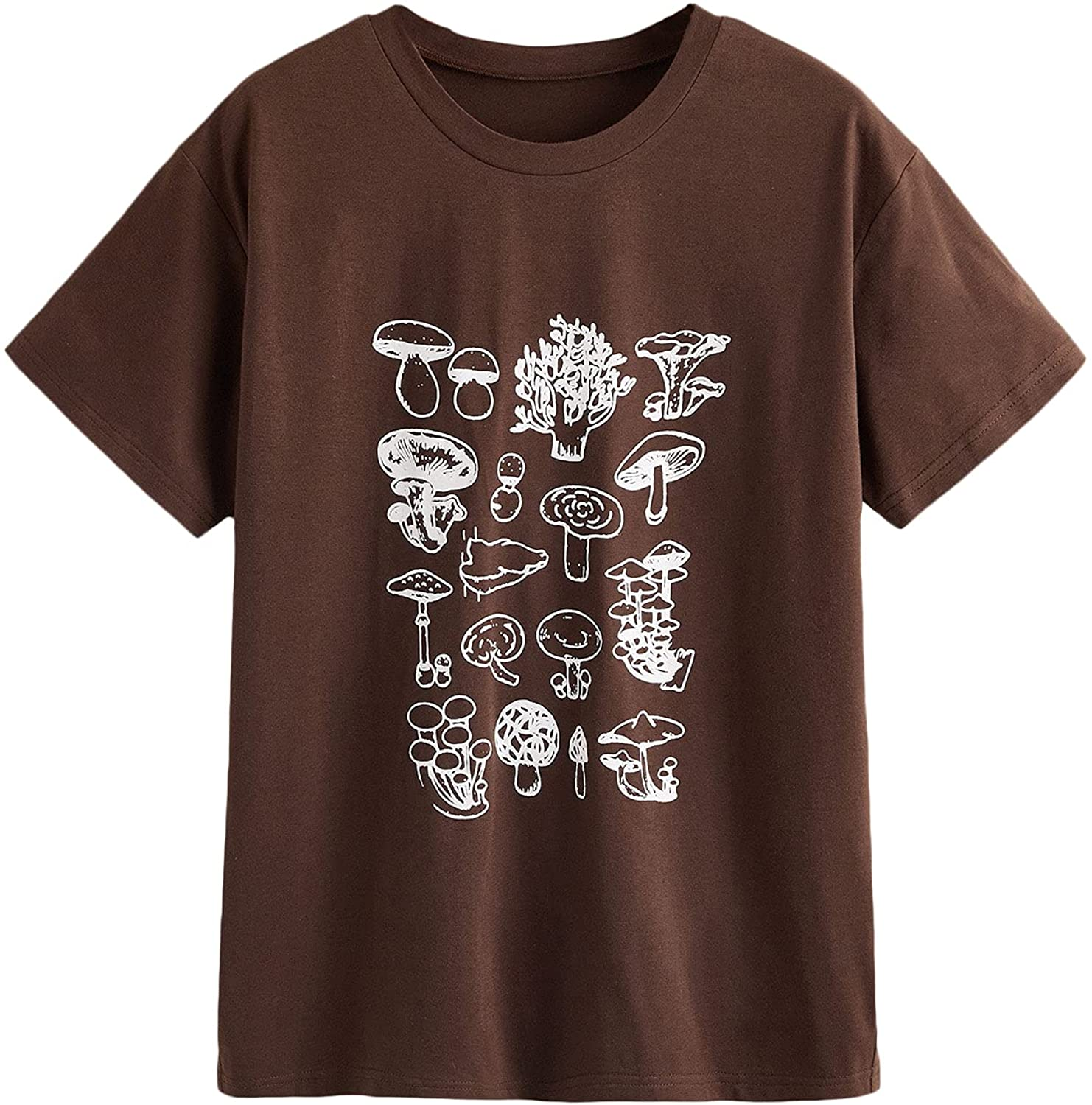 SOLY HUX Women's Graphic Letter Print T Shirt Short Sleeve Tee Top