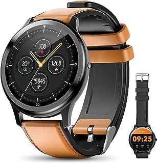 ELEGIANT SmartWatch, 1.3'' Reloj Inteligente IP68 con Pantalla Táctil, Pulsera de Actividad Inteligente Hombre para Deporte, Monitor de Actividades, Podómetro Cronómetro Pulsómetro para iOS Android