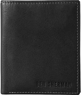 Ben Sherman Hendon Leather Slim Bifold Five Pocket Wallet (RFID)