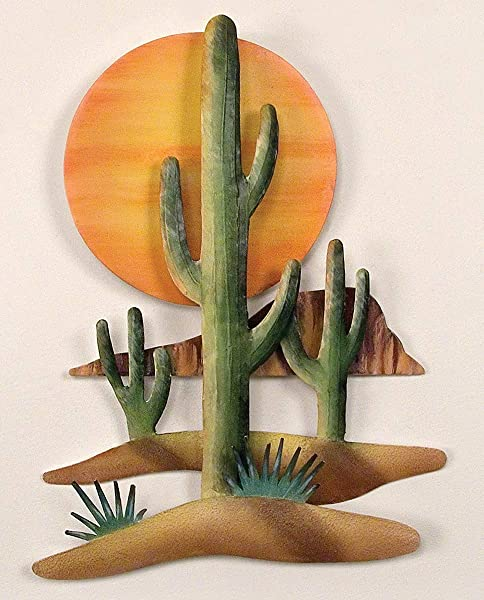 BLACK FOREST DECOR Cactus Sun Wall Art