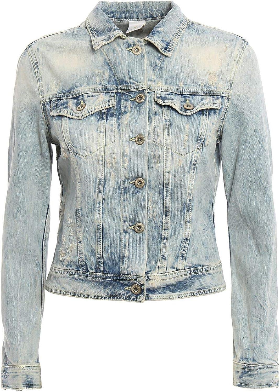 Dondup Women's DJ030DF159DO64PDH800 bluee Cotton Jacket