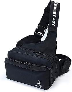 EveryJoy フィッシングバッグ 釣りバッグ タックルバッグ ワンショルダー 多機能 大容量 軽量 ウエストバッグ