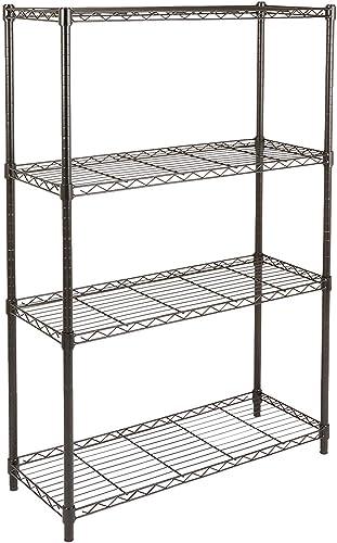 Amazon Basics 4-Shelf Adjustable, Heavy Duty Storage Shelving Unit (350 lbs loading capacity per shelf), Steel Organi...