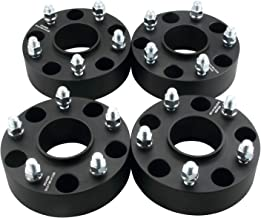 DCVAMOUS Black 5 Lug Hubcentric Wheel Spacers 5x5.5 with 14x1.5 Studs for 2012-2018 Dodge Ram 1500 (4PC, 2 Inch)