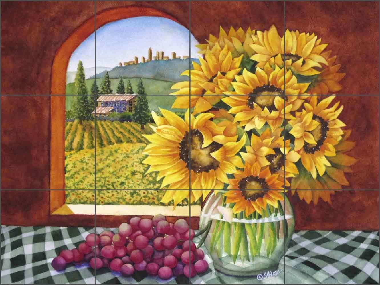 Tuscan Sales results No. 1 Landscape Tile Mural Backsplash by favorite Sarah A. Villa