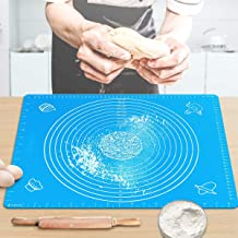 "Pastry Mat for Rolling Dough 20""x16"" Large BPA Free Silicone Pastry Kneading Mat Board with Measurements Food Grade Non-st..."