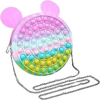 GOUWUCHE Regenbogen Rucksack Pop it Push it Fidget Toy, pop Bubble, endspannentes Anti Stress Spielzeug Sensorisches Spiel...