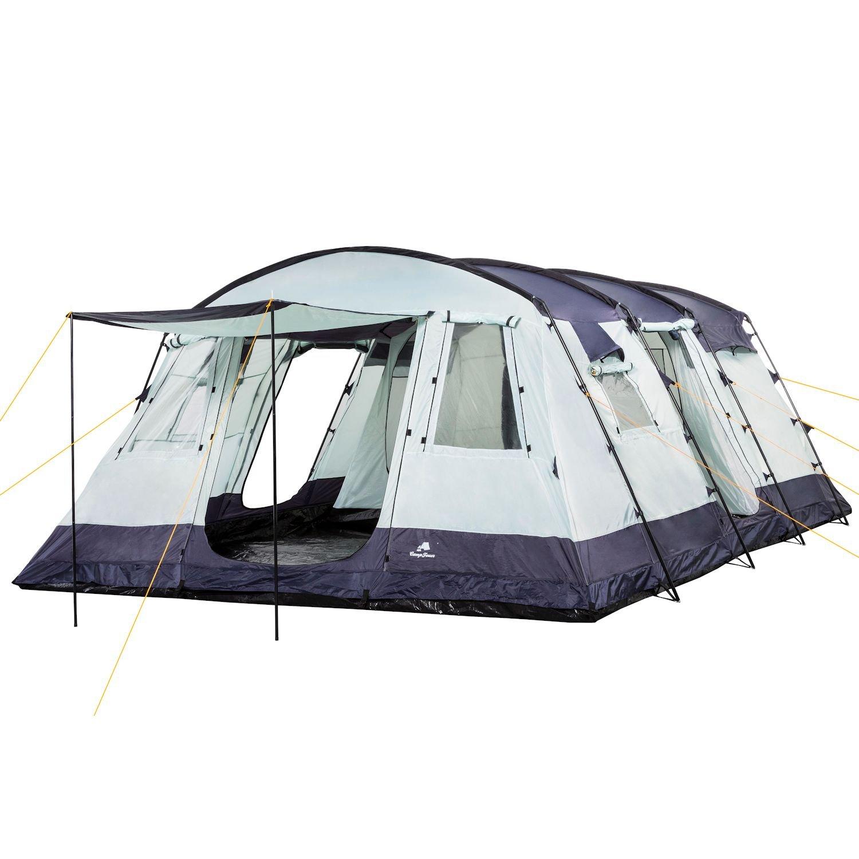 Tienda de campaña familiar de la marca CampFeuer en color azul, 580 x 410 x 210 cm: Amazon.es: Deportes y aire libre