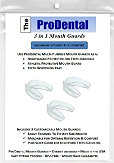 Professional Mouth Guard for Grinding Teeth - 6 Customizable Dental Guards - BPA Free, USA Made | Eliminate Bruxism - Teeth Clenching | Also Use for Sports & Teeth Whitening | FDA Approved Material