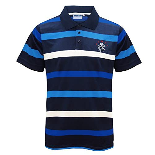 Rangers FC Official Football Gift Mens Striped Polo Shirt Blue e1ccd296e