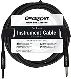 ChromaCast Black 10-Feet Pro Series Instrument Cable, Straight (CC-PSCBLSS-10BlK)