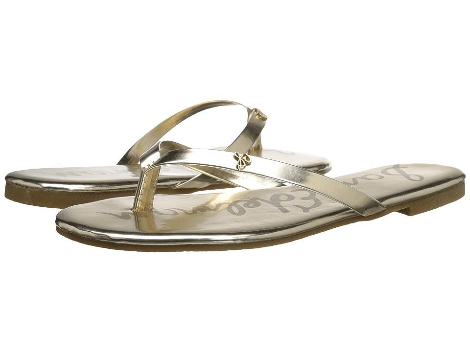 b70117c0e641 Sam Edelman Kids Olivia Charm Thong (Little Kid Big Kid) (Gold Metallic) Girl s  Shoes