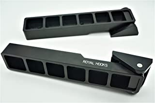 Royal Hooks - Jeep Wrangler JK Tailgate Hinges - The world's best designed hinges, Premium Offroad Jeep Accessories - Made in USA.(Black)