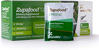 Xtend-Life Zupafood GREENZ Superfood - Super Greens Powder with Wheatgrass, Spirulina, Barley, Mango & Other Natural Flavo...