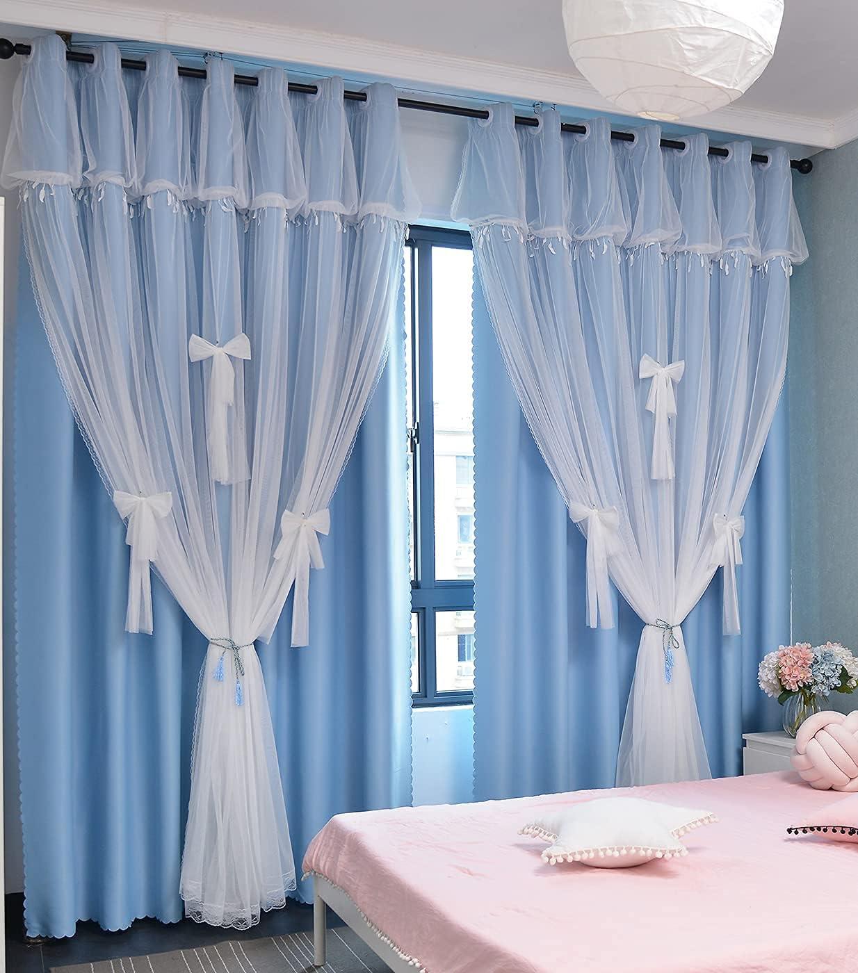 Yancorp Room Darkening Curtains for Nursery Girls Kids Bedroom B