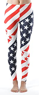 4th of July Independence Day American Flag Stars and Stripes Leggings