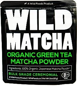 Organic Matcha Green Tea Powder, Ceremonial Grade Authentic Artisan Japanese Matcha, JAS Certified Organic, Shade Grown, Stone Ground, Small Batch (2oz - 56g)