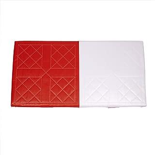 Champion Sports Orange & White Double First Base Foam Filled Base - Nylon Straps and Metal Spikes