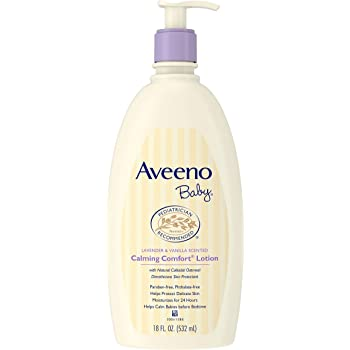 Aveeno Baby Calming Comfort Moisturizing Lotion with Lavender, Vanilla and Natural Oatmeal, 18 fl. Oz