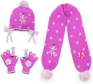 Kidorable Big Girls Pink Ballerina Hat Scarf Gloves Handmade Winter Set 9&up
