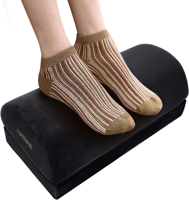 Rare NATRKE Adjustable Height Max 40% OFF Foot Rest- Non-Slip Desk Under Footrest