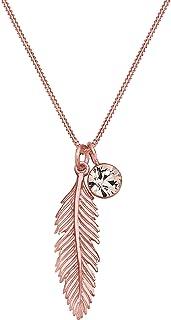 Elli Women 925 Sterling Silver Xilion Cut Swarovski Crystal Pendant Necklaces, 45 cm
