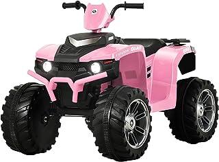 Uenjoy 12V Kids Electric 4-Wheeler ATV Quad Ride On Car Toy w/ 3.7mph Max Speed, Treaded Tires, LED Headlights, Music, Rad...