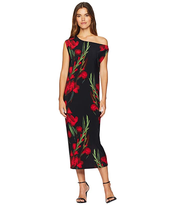KAMALIKULTURE by Norma Kamali Drop Shoulder Midcalf Dress (Blooming Roses) Women