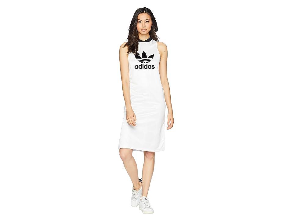 adidas Originals Fashion League Jacquard Tank Dress (Vintage White) Women
