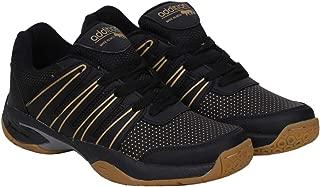 ADDITION Black Sports PU Badminton Shoes