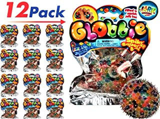 JA-RU Jelly Beads Globbie Stress Ball (Pack of 12) Plus 1 Collectable Bouncy Ball Great Party Toy | Item #4200-12p