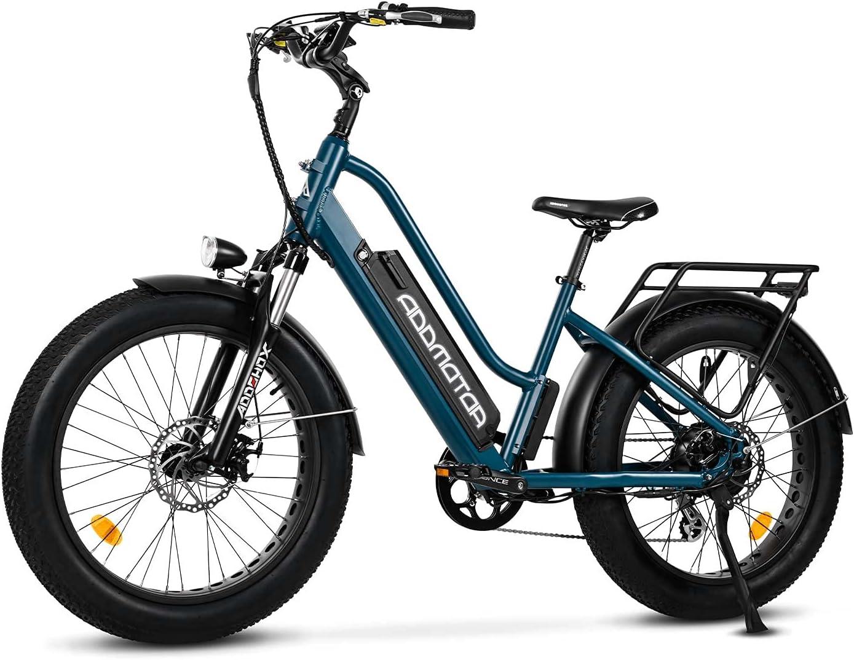 Addmotor Motan Step-Thru Electric Bike 750W Fat Los Angeles Mall 28MPH Quality inspection Tire 24