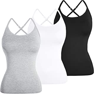 TAIPOVE Women X-Back Built in Padded Bra Camisoles Tank Tops 1/3 Packs