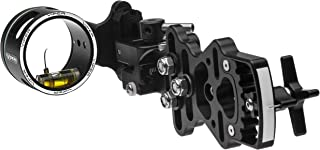 Viper Archery Sidewinder XL, Tactical Quickset Single Pin Aluminum Compound Bow Sight with Micro-Tune Windage, 2nd Axis Adjustment, Ultra-Smooth Derlin Bushings - Made in USA