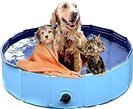 dreambuilderToy Foldable Dog Bath Swimming Pool Collapsible Pet Bathing Pool, Kid's Bath Tub Kiddie Swimming Pool for Smal...
