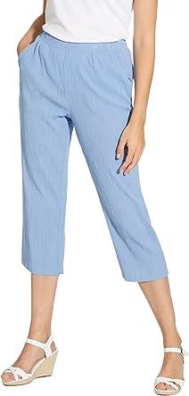 Balsamik–Pantaloni Capri in Tessuto créponné–Donna