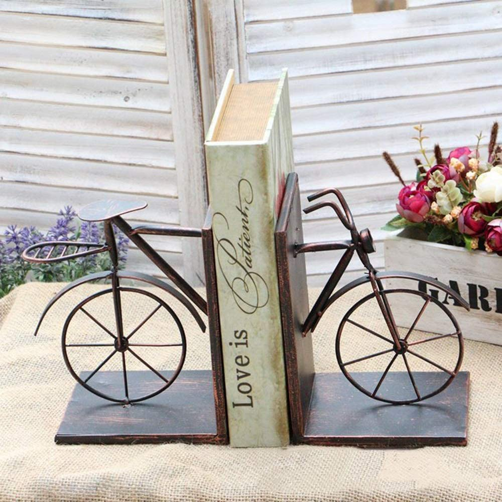 YANG1MN.Ornaments Cheap mail order shopping Retro store Nostalgic Iron Bookend Bicycle Shape Mag