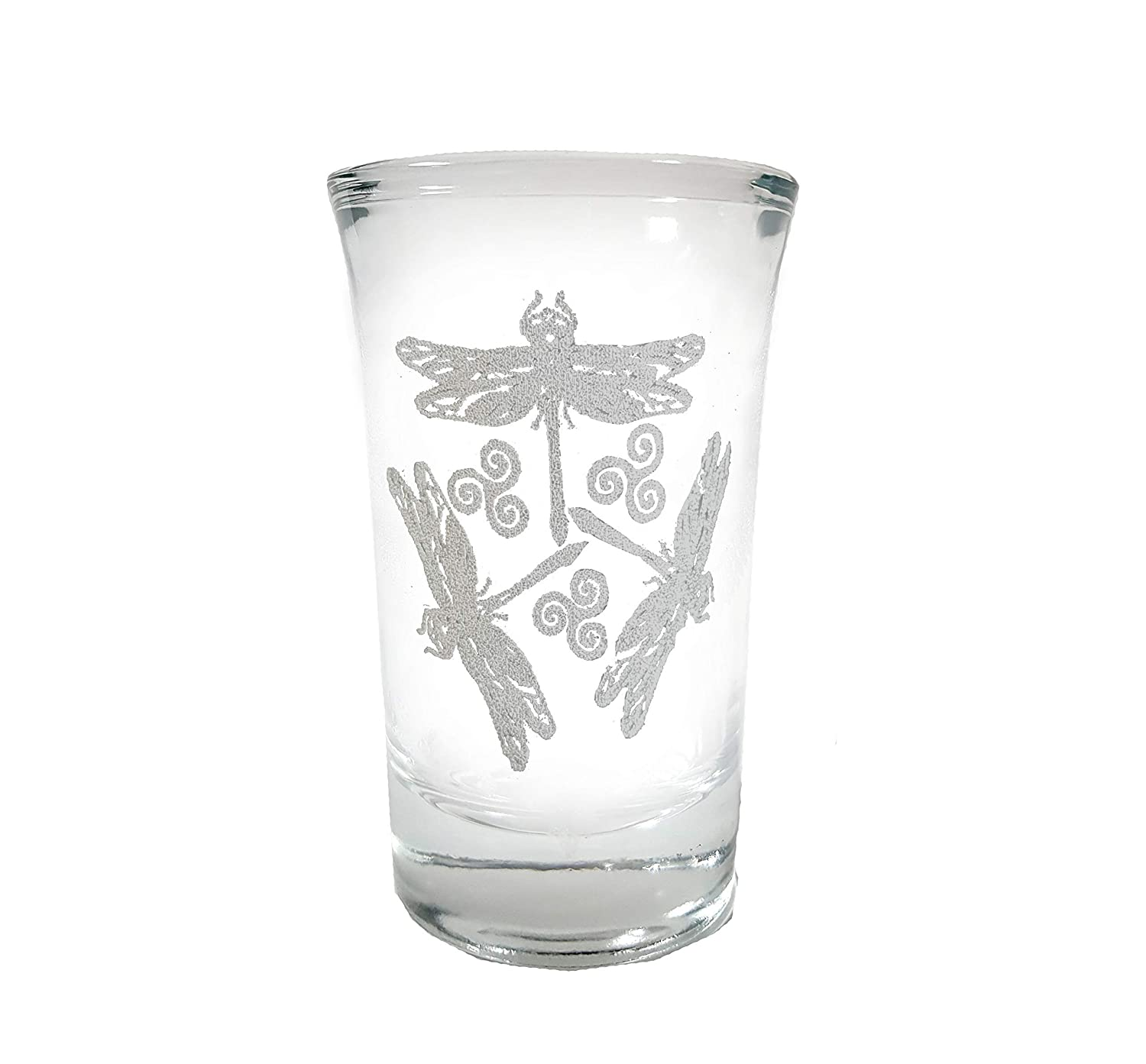 Dragonfly Shot Glass - Virginia Ranking TOP8 Beach Mall Free Engraving Lyoncraft Personalized
