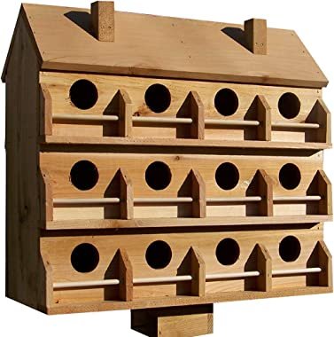 Purple Martin Deluxe Birdhouse with 12 Seperate Compartments Large