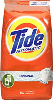 Tide Automatic Original Scent Detergent Powder - Front & top load - 6 Kg, Pack of 1