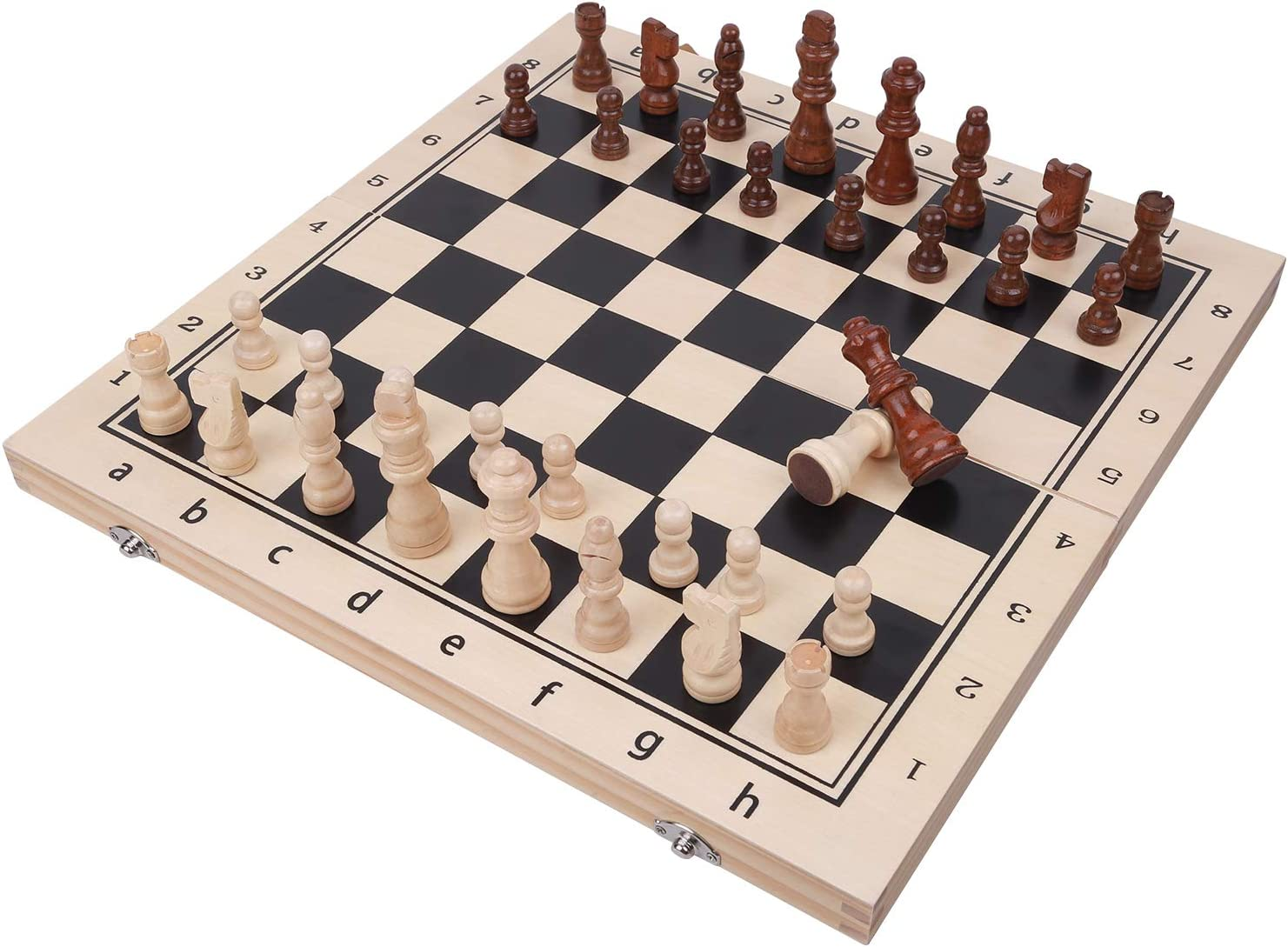 DONGKER Folding International Chess High material Don't miss the campaign Magnetic Foldi Wooden