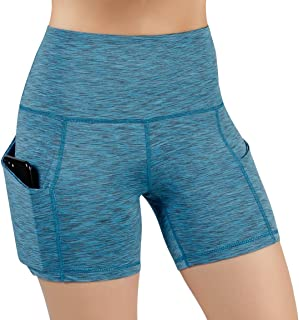 wholesale dealer 6bcb3 a7ed1 ODODOS High Waist Out Pocket Yoga Short Tummy Control Workout Running  Athletic Non See-Through