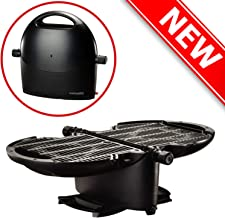 NOMADIQ Portable Propane Gas Grill | Small, Mini, Lightweight Tabletop BBQ | Perfect for Camping, Tailgating, Outdoor Cooking, RV, Boats, Travel