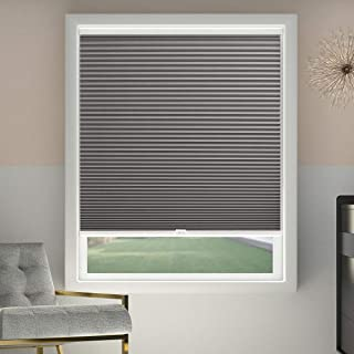 SBARTAR Cellular Blinds Cordless Blackout Honeycomb Shades Fabric Window Blinds 34x64 inch, Cool Silver(Blackout)