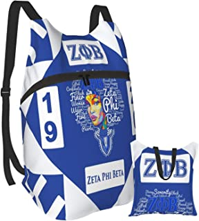 Sponsored Ad - Zeta Phi Beta Backpack Men Women Portable Folding Travel Bag Sports Bag